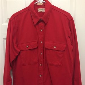 St. John's Bay red flannel camp shirt